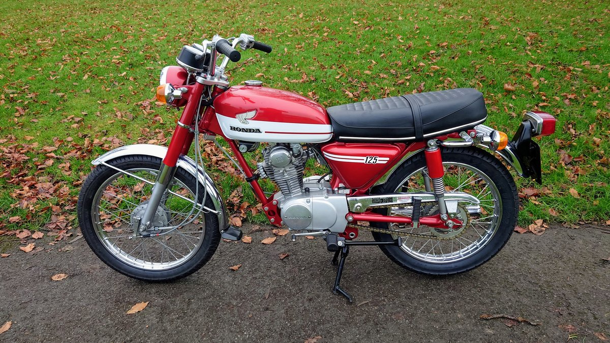 A 1973 Honda CB125 S - 30/06/2021 For Sale by Auction (picture 2 of 8)