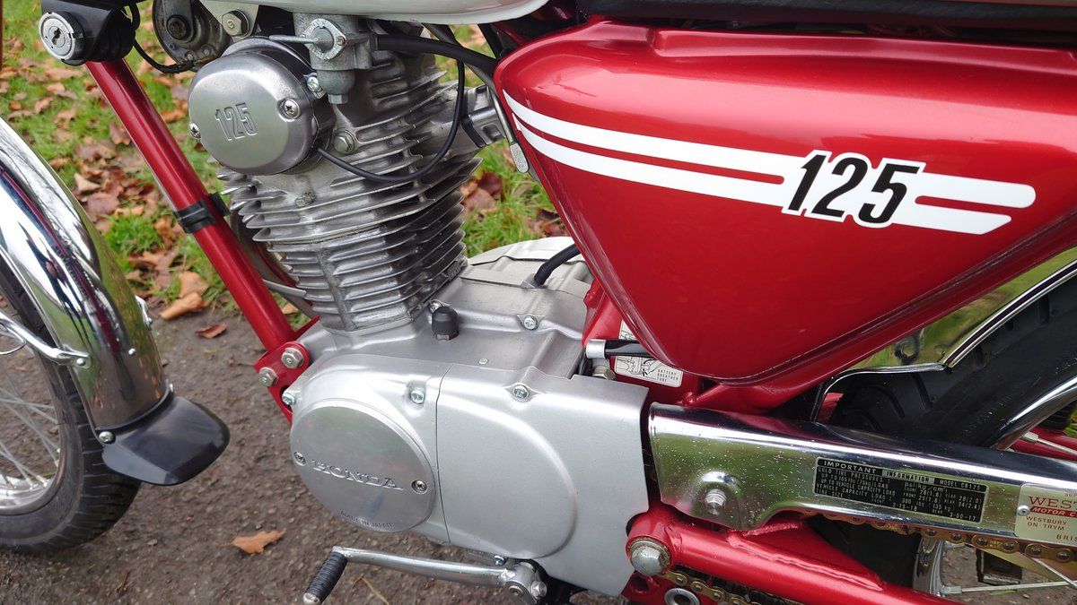 A 1973 Honda CB125 S - 30/06/2021 For Sale by Auction (picture 4 of 8)