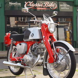 Picture of 1965 Honda CB92 Super Sport Benly With Race Seat + Exhaust. For Sale