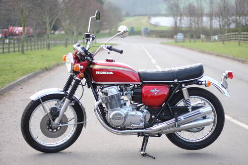 Honda CB750 CB 750 K1 1971 Candy Ruby Red, just 23,046 miles SOLD (picture 1 of 6)