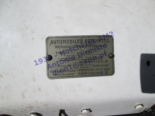 1930 - Hotchkiss AM2 For Sale (picture 6 of 6)