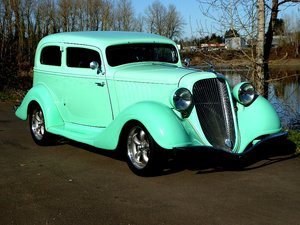 1934 Husson Terraplane Victoria = Steel body Restored $44.5k