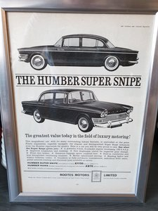 1963 Humber Super Snipe advert Original