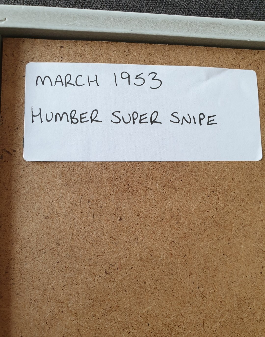 1953 Original Humber Super Snipe advert For Sale (picture 2 of 3)