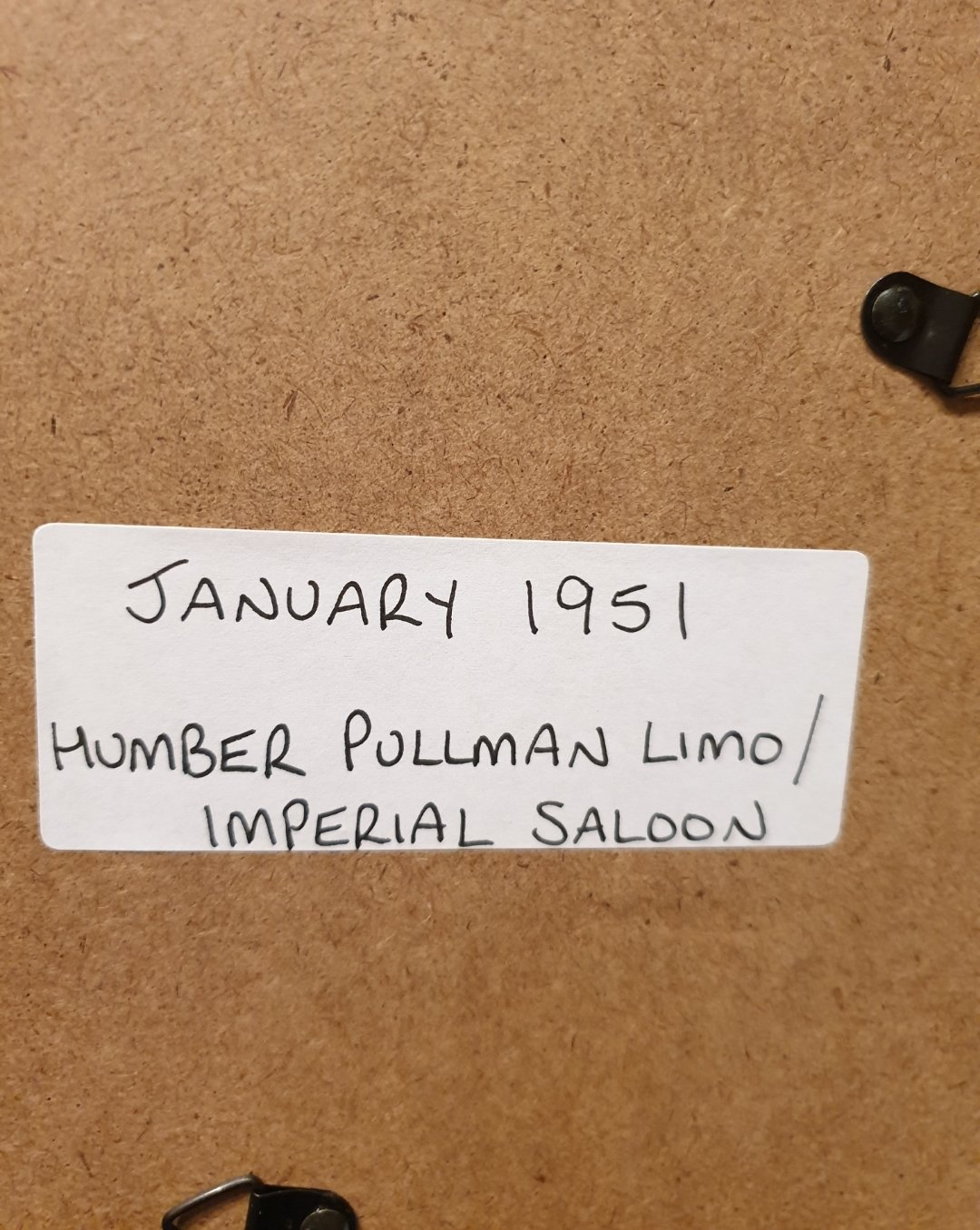 1951 Humber Limousine Framed Advert Original  For Sale (picture 2 of 2)