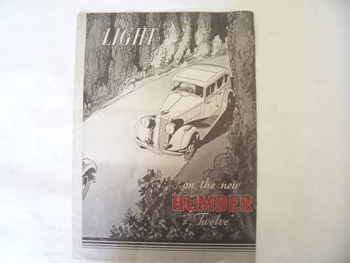 HUMBER TWELVE 1933 SALES BROCHURE For Sale (picture 1 of 4)
