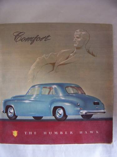 HUMBER HAWK 1952 SALES BROCHURE For Sale (picture 1 of 6)