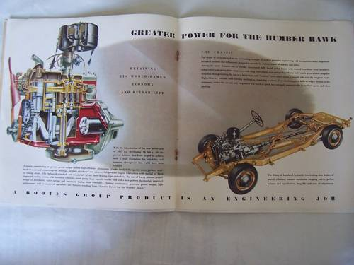 HUMBER HAWK 1952 SALES BROCHURE For Sale (picture 3 of 6)