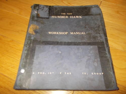 0000 humber hawk workshop manual For Sale (picture 1 of 2)