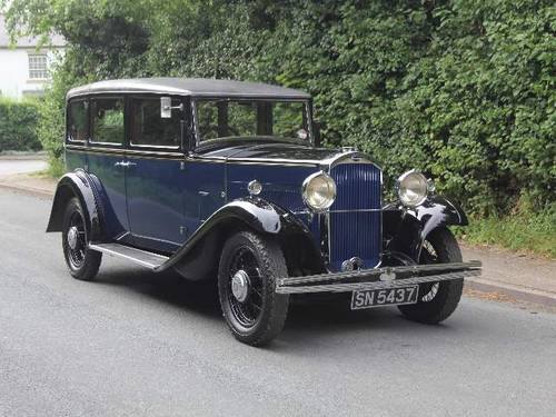 1931 Humber Pullman Limousine Laundaulette For Sale (picture 1 of 6)
