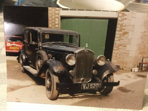 1933 Humber Snipe 80 Sports Saloon For Sale (picture 1 of 4)