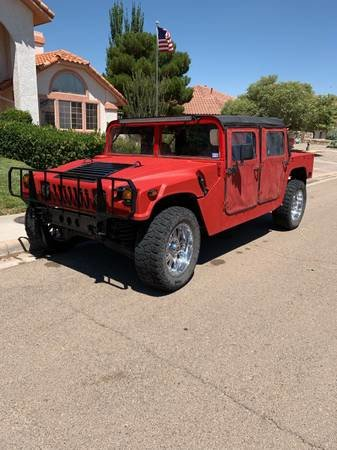 1987 AM General M998 Hummer H1 Diesel  Red  Auto  $25k For Sale (picture 1 of 6)