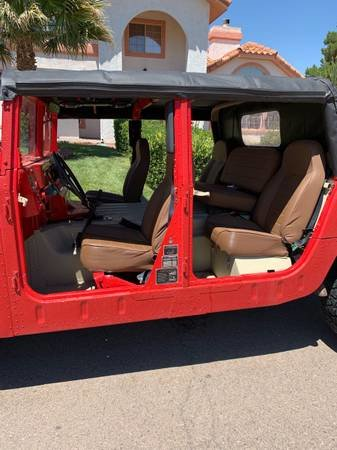 1987 AM General M998 Hummer H1 Diesel  Red  Auto  $25k For Sale (picture 3 of 6)