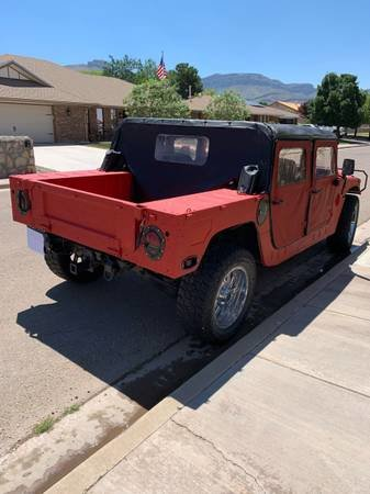 1987 AM General M998 Hummer H1 Diesel  Red  Auto  $25k For Sale (picture 4 of 6)