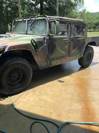 1987 Humvee AM General H1 M998 15k miles Clean Camo $19k For Sale (picture 3 of 6)