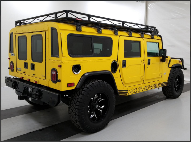 2002 Hummer H1 SUV 4WD Yellow(~)Grey Diver $79.9k For Sale (picture 4 of 6)