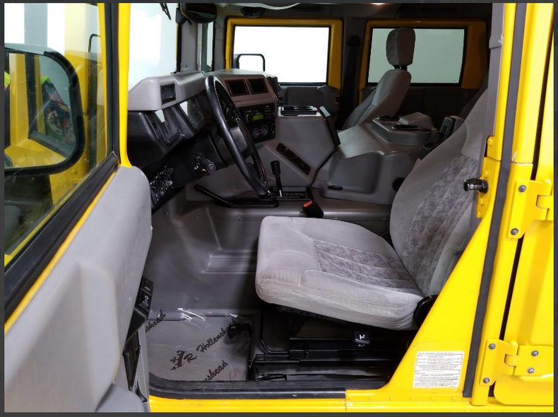 2002 Hummer H1 SUV 4WD Yellow(~)Grey Diver $79.9k For Sale (picture 5 of 6)