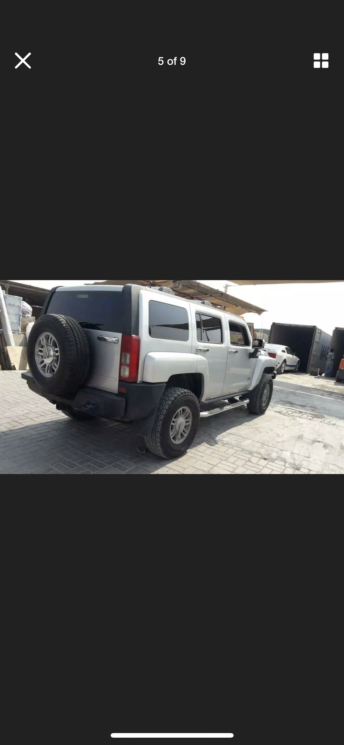 2008 HUMMER H3 3.5 LEFT HAND DRIVE SILVER LHD FRESH IMPORT A For Sale (picture 5 of 6)