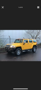 2007 HUMMER H3 3.5 LEFT HAND DRIVE YELLOW MODIFIED IMPORT