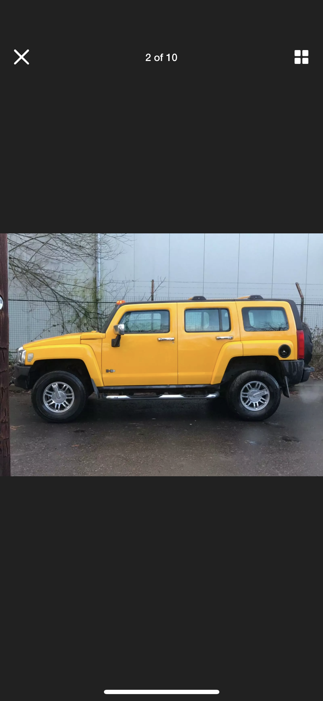 2007 HUMMER H3 3.5 LEFT HAND DRIVE YELLOW MODIFIED IMPORT For Sale (picture 3 of 6)