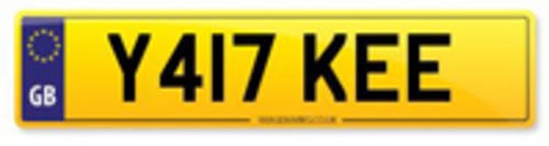 Y417 KEE Yankee Private Plate For Sale (picture 1 of 1)