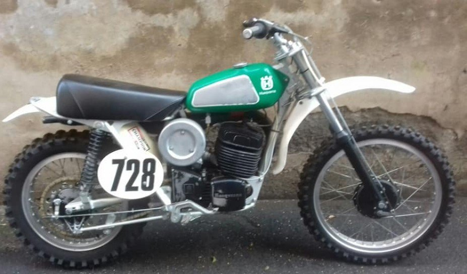 HUSQVARNA CR 400 1974, NEVER RESTORED INCREDIBLE PATINA For Sale (picture 2 of 6)