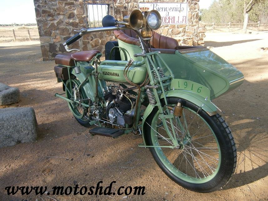 Husqvarna 145 with sidecar from 1916.Spectacular combination For Sale (picture 2 of 12)