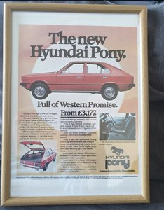 1982 Hyundai Pony Advert Original