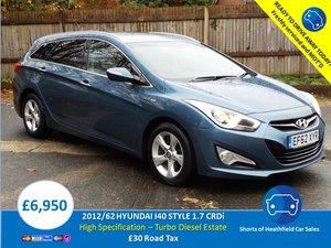 2012/62 Hyundai i40 1.7CRDi Style (136ps) Estate For Sale
