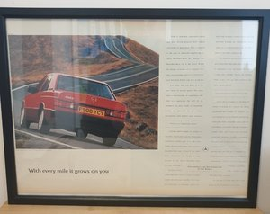 Original 1989 Mercedes 190E Framed Advert