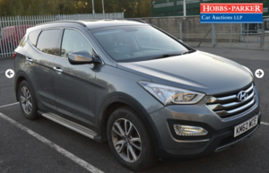 Hyundai Santa Fe Premium CRDI - 77,922 Miles - Auction 25th