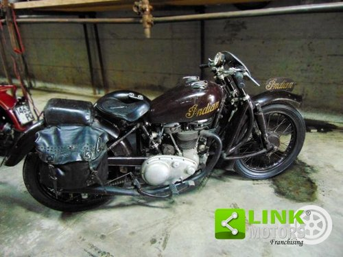 Indian Scout 440,Sidecar cross, anno 1950, perfettamente co For Sale (picture 2 of 6)