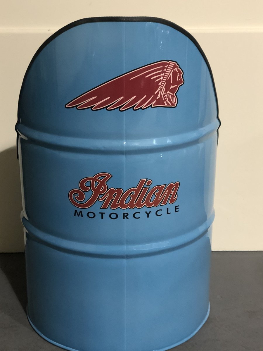Up-cycled oil barrel/Indian Motorcycle design For Sale (picture 2 of 2)