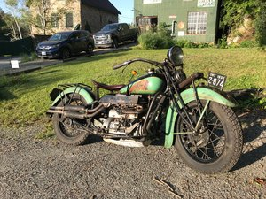 1936 Indian 4 great patina ready to ride anywhere For Sale