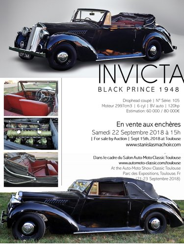 INVICTA BLACK PRINCE 1948 for sale by Auction by Machoïr For Sale (picture 4 of 6)