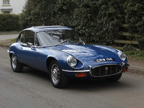 1973 Jaguar E-Type V12, 52K miles, UK Matching No's car SOLD (picture 1 of 6)