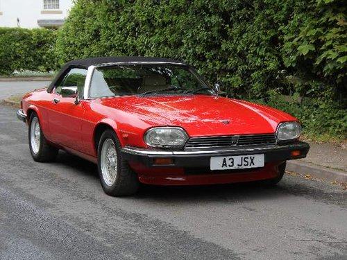 1960 1990 Jaguar XJS V12 Convertible - 57k miles, FSH For Sale (picture 1 of 6)
