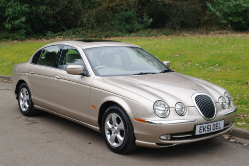 2002 Jaguar S Type 3.0 V6 SE Auto. Demo + 1 Owner. FSH. Low Miles SOLD (picture 1 of 6)