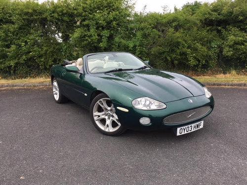 SEPTEMBER AUCTION ENTRY** 2003 Jaguar XK8 Convertible SOLD