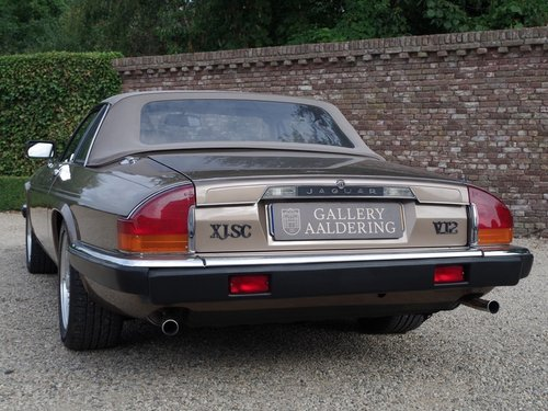 1986 Jaguar XJ-SC V12 HE only 56.647 kms from new, European car! For Sale (picture 6 of 6)
