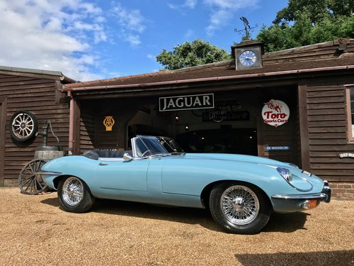 1969 JAGUAR E-TYPE S2 ROADSTER, U.K. RIGHT-HAND DRIVE SOLD (picture 1 of 6)