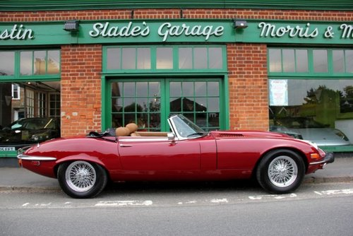 1973 Jaguar E-Type 5.3 V12 Roadster  SOLD (picture 1 of 4)