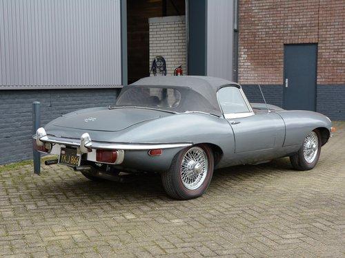 1969 Jaguar E-Type 4.2 Convertible Series 2 black plate car, matc For Sale (picture 2 of 6)