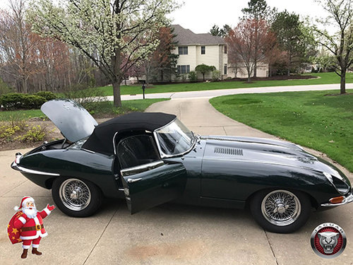 BRG.LHD  E TYPE JAGUAR 1/2 Serie 1968 ROADSTER !  For Sale (picture 1 of 6)