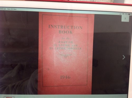 1959 JAGUAR 1960  MARK IX 3.8 ORIGINAL  OWNERS MANUAL For Sale (picture 6 of 6)