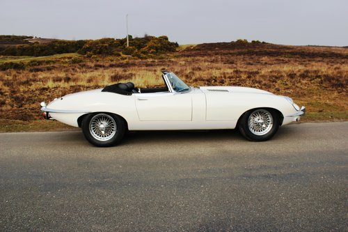 Jaguar E Type Series 2 Roadster 1970 Matching UK Car For Sale (picture 3 of 6)