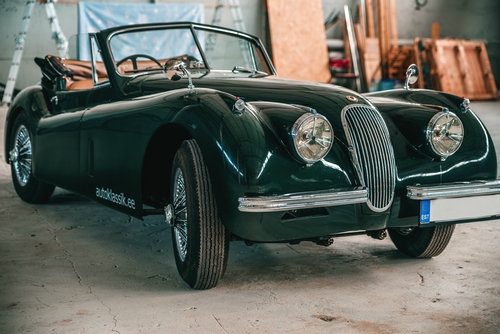 1953 Jaguar XK120 Drophead Coupe British Racing Green. For Sale (picture 2 of 6)