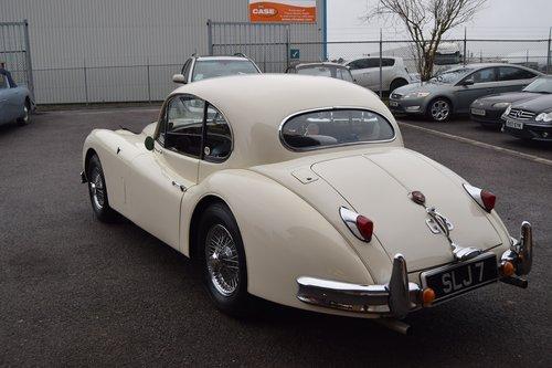 1955 White Jaguar XK140 FHC  For Sale (picture 2 of 6)