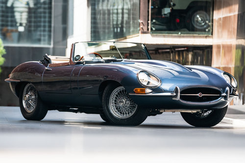 1961 Jaguar E-Type Series 1-3.8 Flat Floor Roadster For Sale (picture 1 of 6)