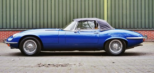 1975 Jaguar E-TYPE V12 ser3 convertible € 94.500 For Sale (picture 4 of 6)